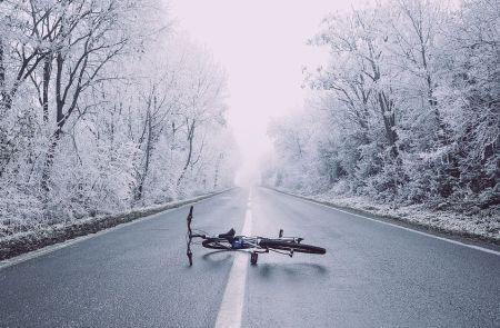 vélo en hiver